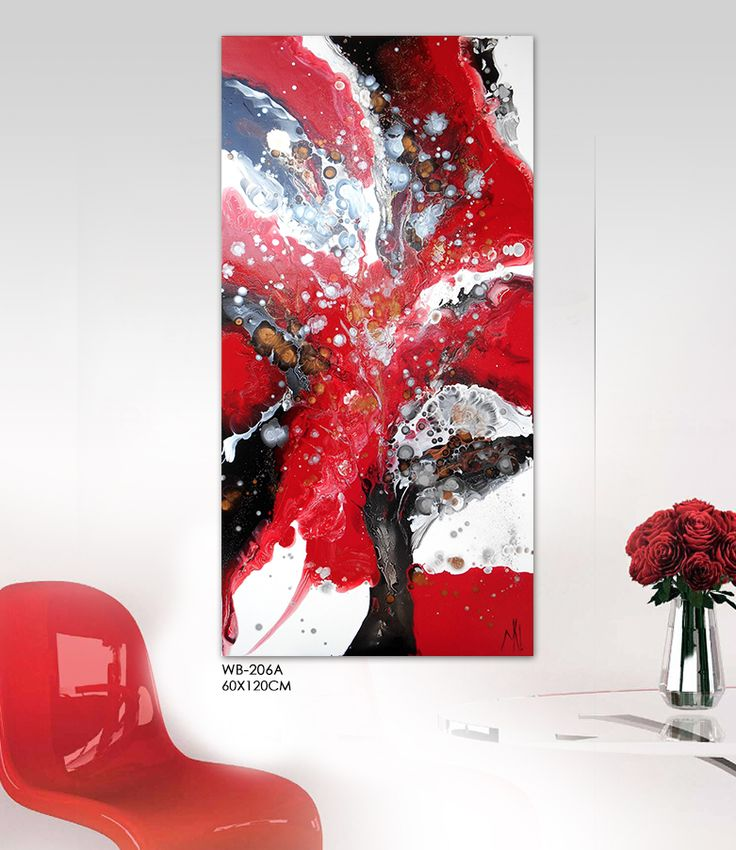 Find More Painting U0026 Calligraphy Information About Modern Abstract Painting  Hand Painted Watercolor Black Office Original Red Canvas Wall Art Home  Decor ...