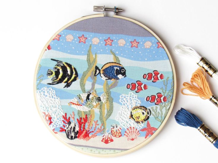 A personal favourite from my Etsy shop https://www.etsy.com/uk/listing/551674357/peaceful-fish-beautiful-life-collection