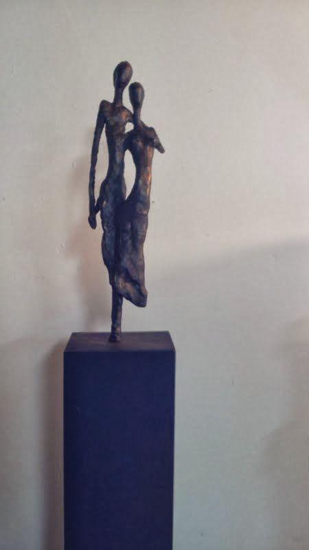 Samen gemaakt in brons
