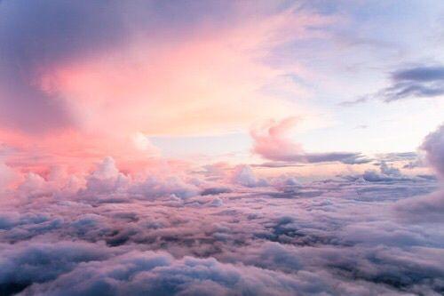 grafika sky, clouds, and pink