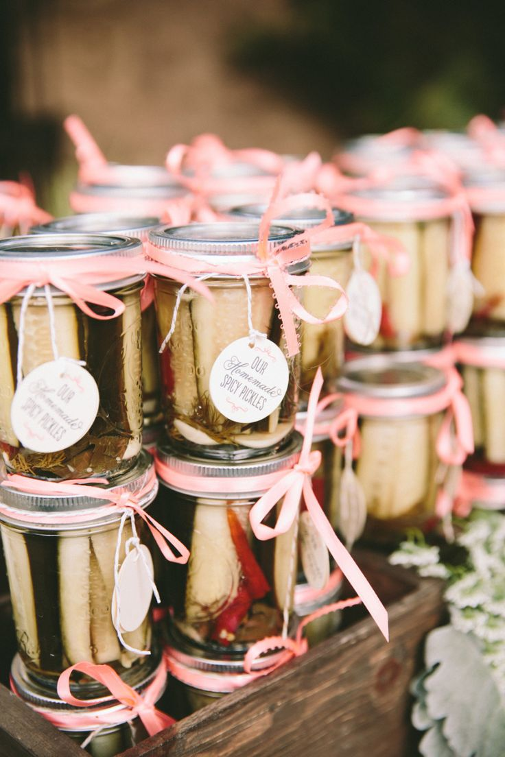 Homemade Pickles for Wedding #Favors | Sweet #DIY Wedding on SMP - http://www.StyleMePretty.com/california-weddings/escondido-california/2014/01/10/handmade-bandy-canyon-ranch-wedding/ onelove photography