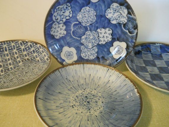 Vintage Art Deco Asian Decorative Plates Chinese by GLAMATIQUES
