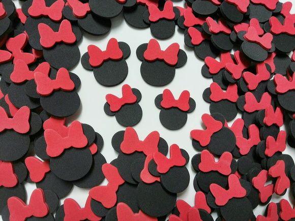 100 Orelhinha Da Minnie Laço Vermelha