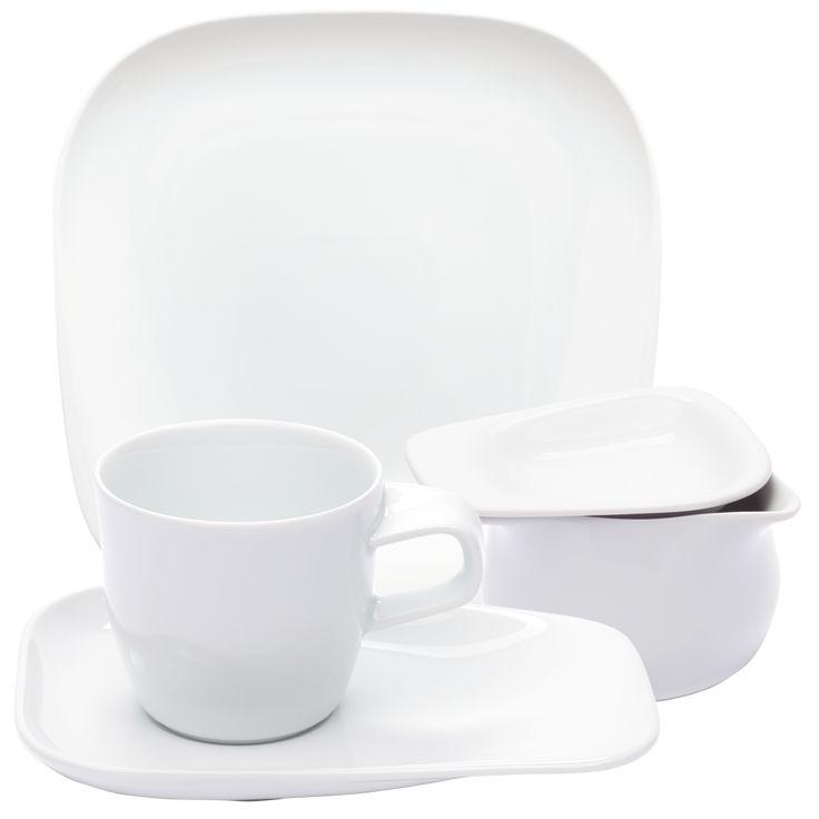 Elixyr Kaffeeservice weiß, KAHLA Porzellan
