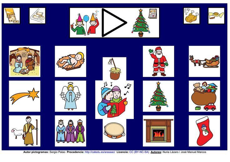 Navidad - Tablero de comunicación. http://informaticaparaeducacionespecial.blogspot.com.es/p/tableros-de-comunicacion.html