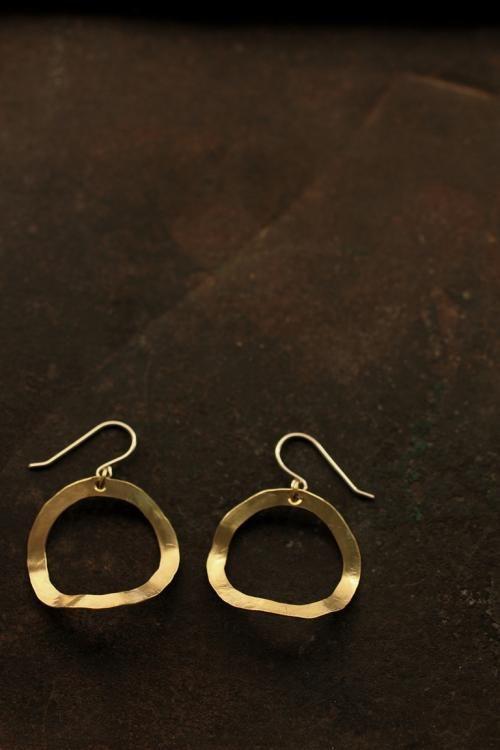 Brass Hoop Earrings - IRRE