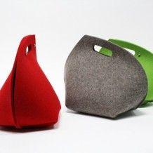 'T-bag': tea-cosy of 5 mm (coloured) woolfelt