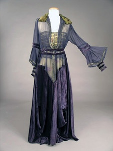 Purple Velvet & Chiffon Gown, c. 1914