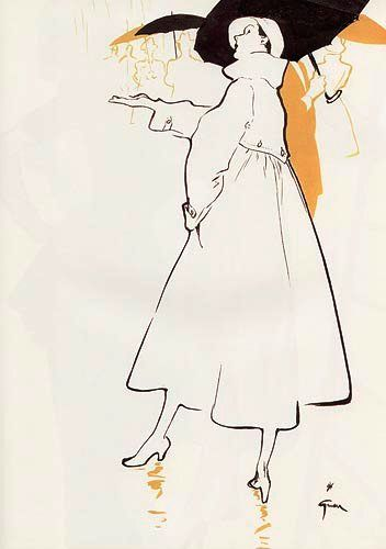 Rene Gruau  #fashion  #illustration