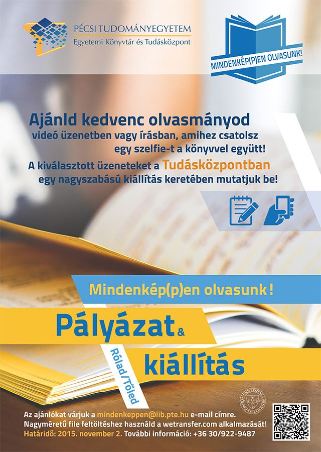 Invitation for tender by the University Library of Pécs and Center for Learning
