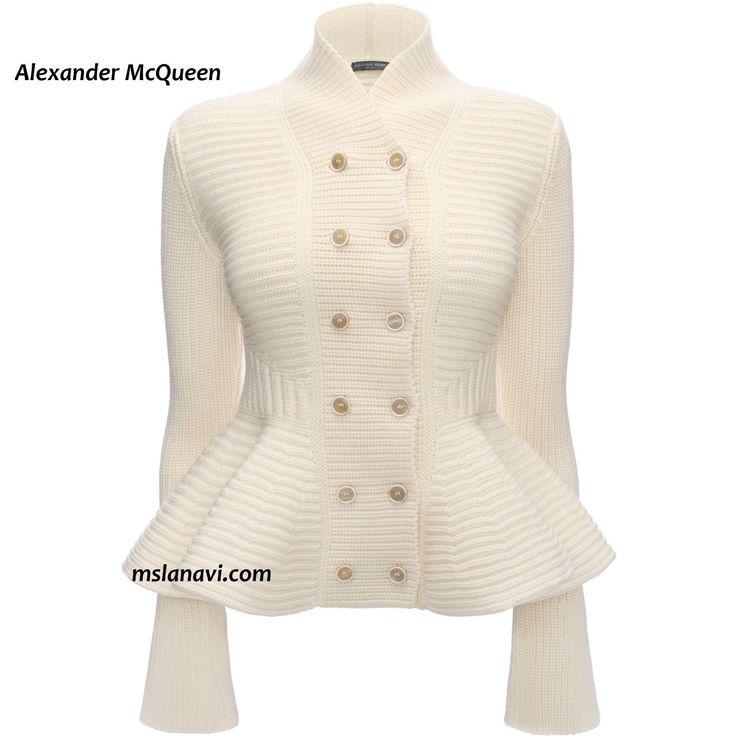 Mодный вязаный жакет спицами от Alexander McQueen http://mslanavi.com/2015/11/modnyj-vyazanyj-zhaket-spicami-ot-alexander-mcqueen/