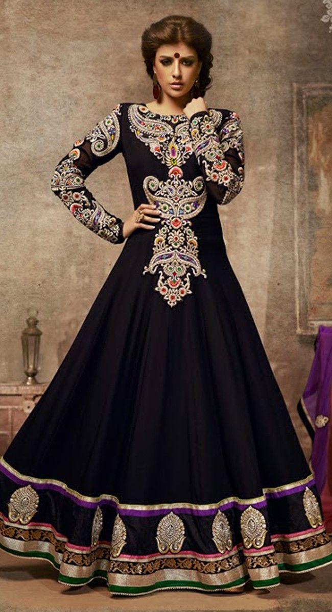 Divine Black Salwar Kameez