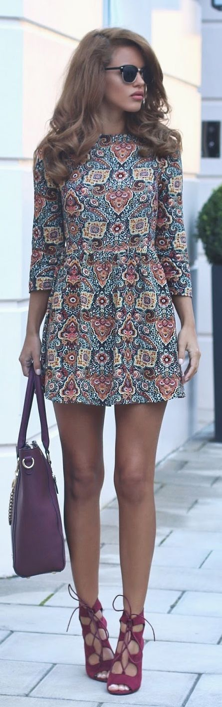 Little Printed Dress Fall Inspo by Nada Adellè
