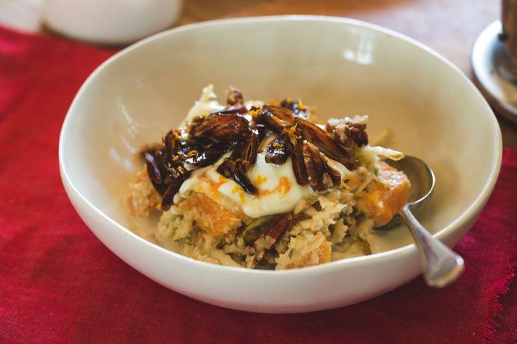 Healthy yummy breakfasts by Aaron Brunet from Masterchef – Pear and orange breakfast – NZF June/July 2014