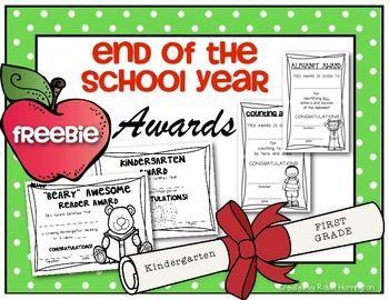 (FREEBIE) End of the School Year Awards for Kindergarten ...