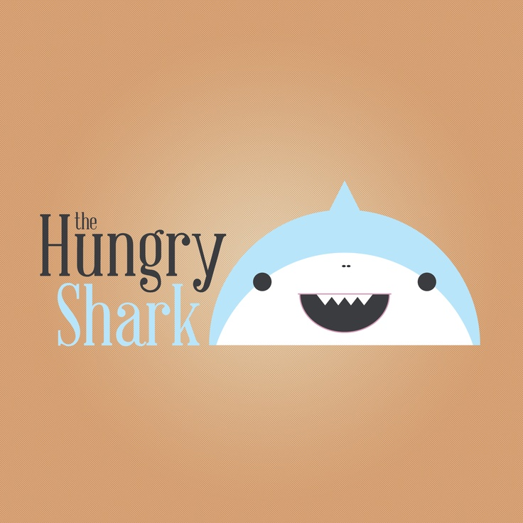 The Hungry Shark Logo - David Archbold    #graphicdesign #design #art #digital #aminated