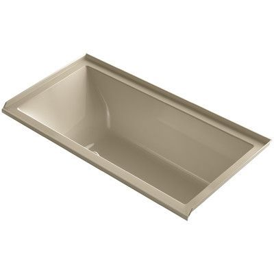 "Kohler Underscore 60"" x 30"" Air Bathtub Finish: Mexican Sand, Drain Location: Right"