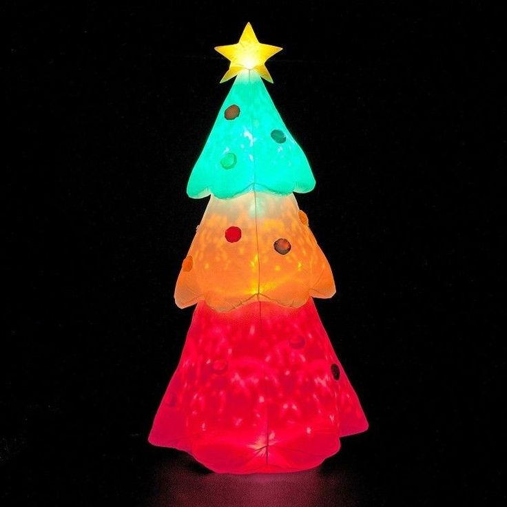 Inflatable Outdoor Christmas Decoration Winter Xmass Christmas Tree 8 FT Colour #InflatableOutdoorChristmasDecoration