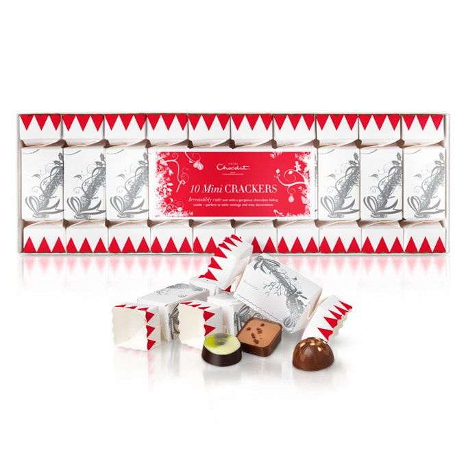 With space to write your guest's name and one of our exclusive chocolates hiding inside, our 10 Mini Christmas Crackers make deliciously stylish table settings, luxurious stocking fillers, or gorgeous decorations for your tree. #hotelchocolat #hcdreamhamper