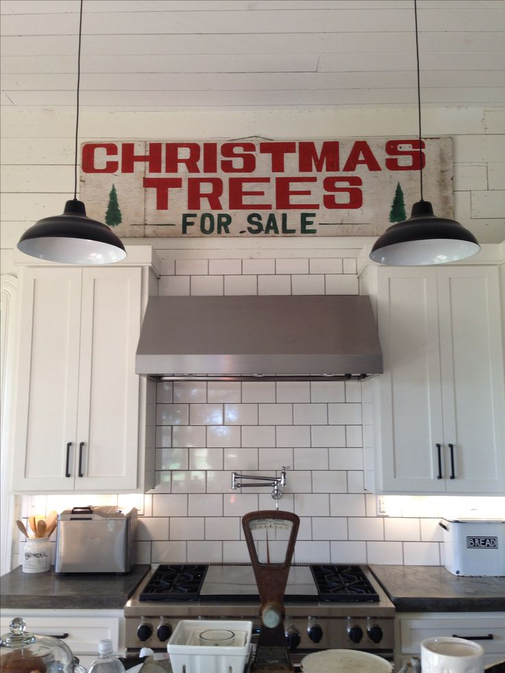 """Joanna's actual """"Christmas Trees For Sale"""" sign that I want to make myself!"""