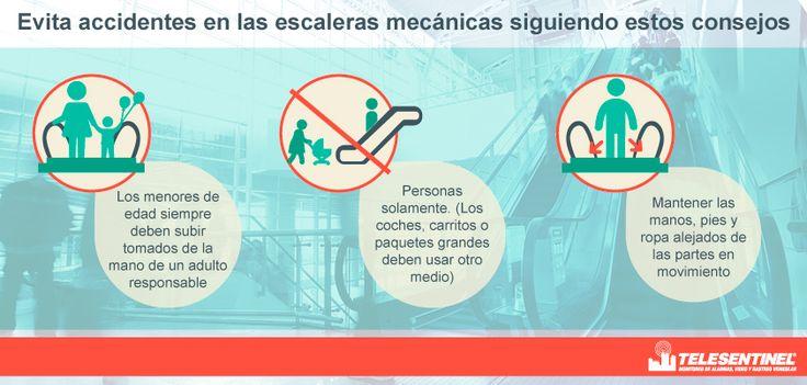 Evite accidentes al subir por una escalera mecánica