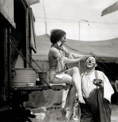 Circus Performer Flirting with a Clown