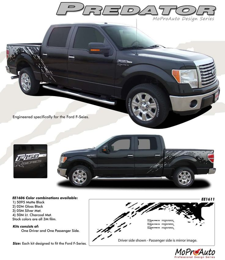 PREDATOR Ford FSeries Raptor - Truck bed decals customford fvinyl graphics for bed fender