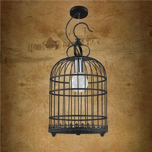 Decoration Pendant Lamp Iron Modern Bird Cage Shape Lamp Vantage Ceiling Light