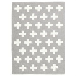 Nordic Crosses Kid Rug in Grey - 220x150cm