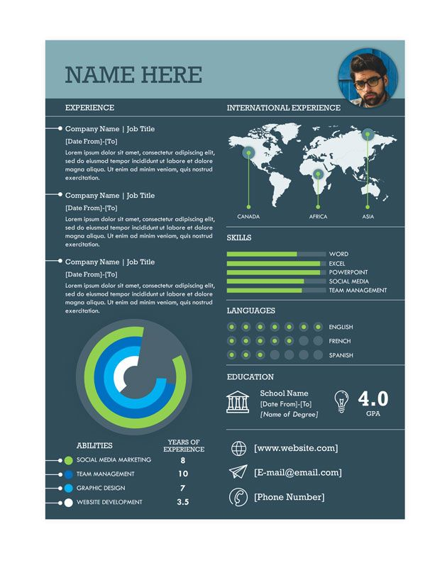 Infographic Resume Template Powerpoint from i.pinimg.com