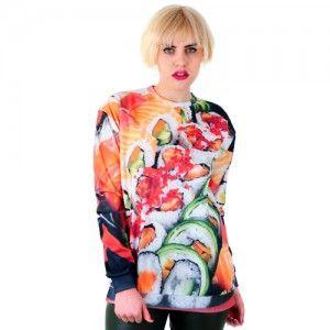 Bluza Oversize Hipster z nadrukiem SUSHI unisex