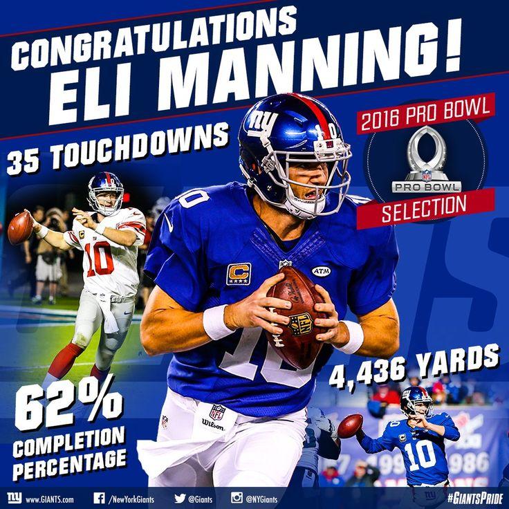 Eli...Pro Bowl 2015 #gmen #elite #underrated