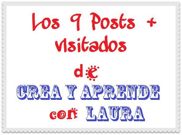 Crea y aprende con Laura: Los 9 Posts más visitados de Crea y aprende con La...