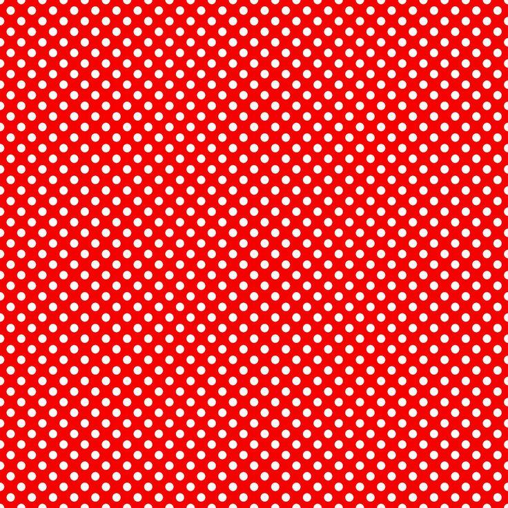 **FREE ViNTaGE DiGiTaL STaMPS**: Free Digital Scrapbook Paper - Big Red Polka Dots
