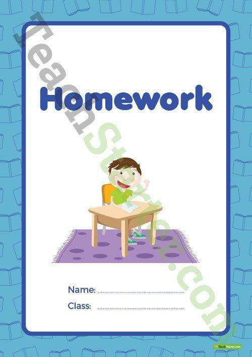 Homework Book Cover – Version 1 Teaching Resource