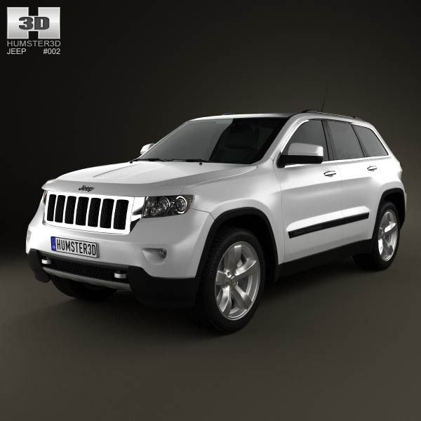Jeep Grand Cherokee 2011 3d model from humster3d.com. Price: $75
