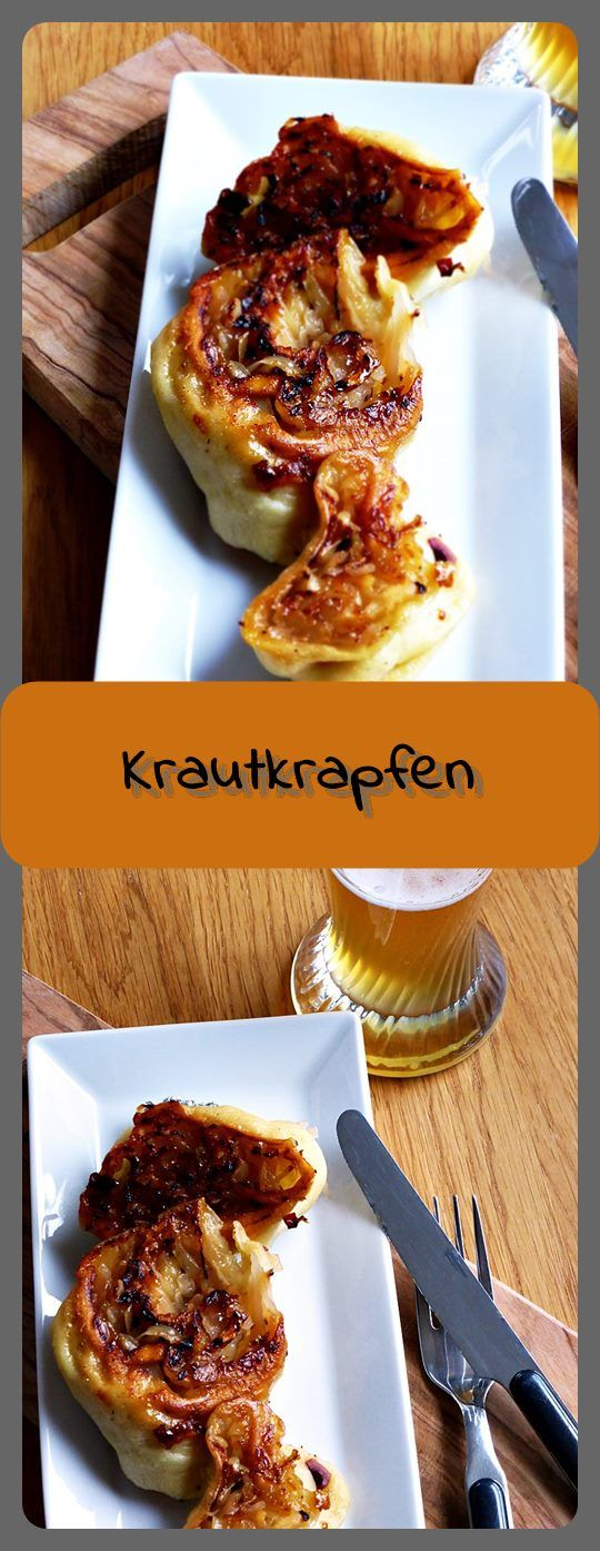 Krautkrapfen Krautkrapfen sind mit Sauerkraut gefüllte Teigrollen, die in der Pfanne gebraten und gedünstet werden. Eine tolle Abwechslung!