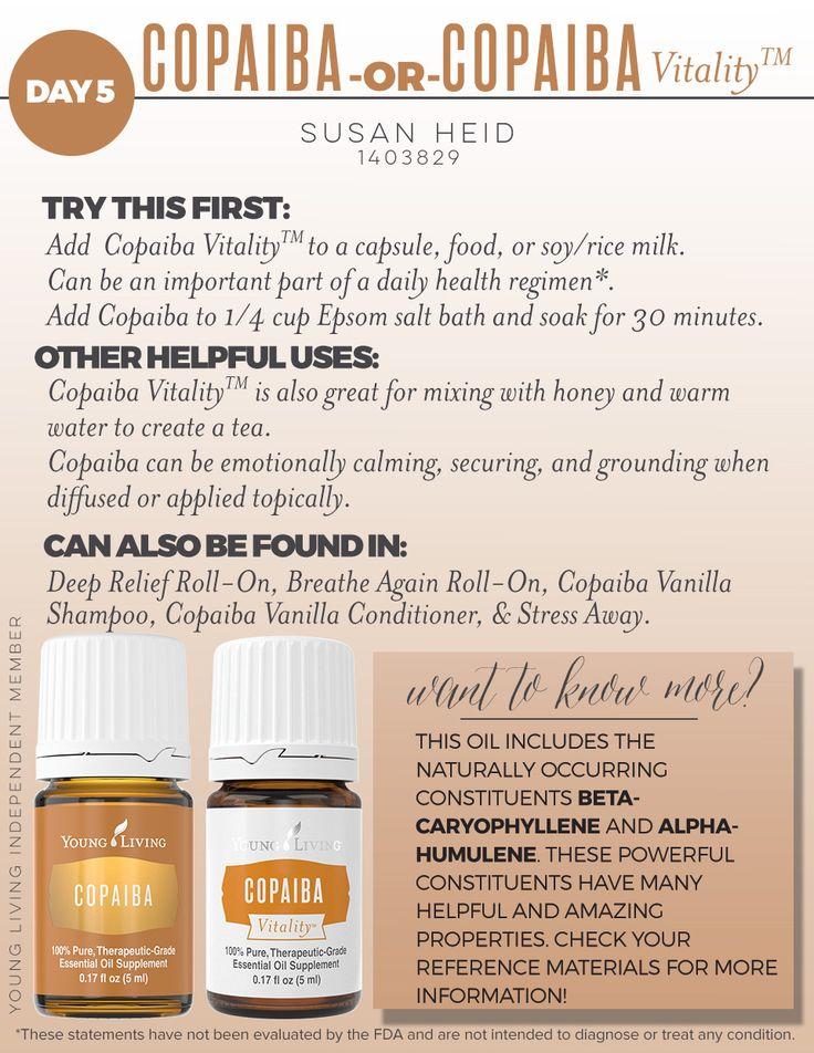 Young Living Copaiba and Copaiba Vitality - two great ways to support your wellness journey!