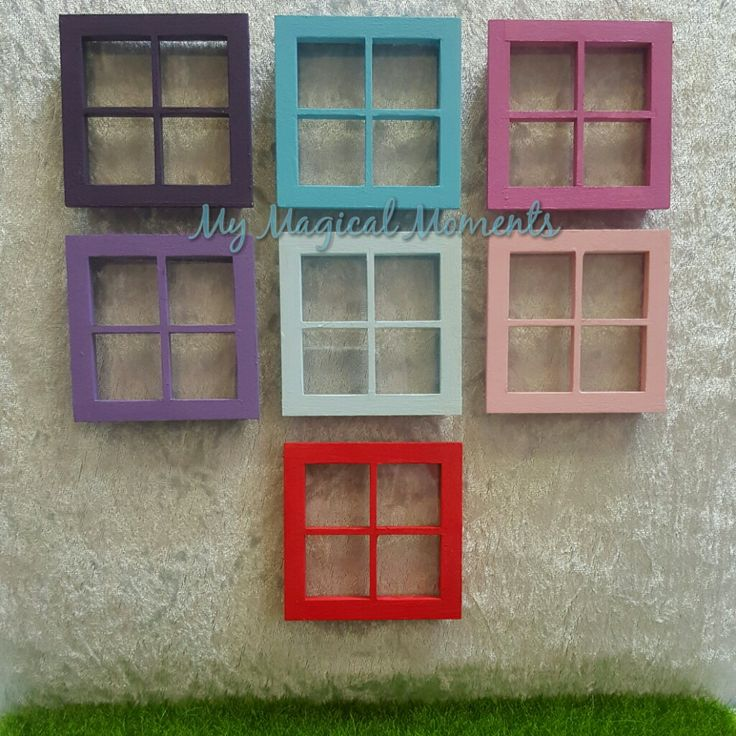 Your Fairy and Elf home will be complete once they have a little window that they can peek out of to make sure no-one is around when they want to visit The wooden window comes in 7 colours to choose from and has clear perspex window pane Each window measures approximately 70mm x 70mm To decorate your