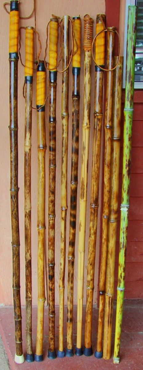 Bamboo hiking staffs (Phyllostachys nigra 'Bory') - Bamboo Arts and Crafts Gallery