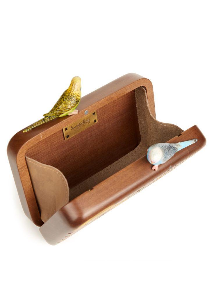 Tiki Monsters wooden-box clutch | Sarah's Bag | MATCHESFASHION.COM