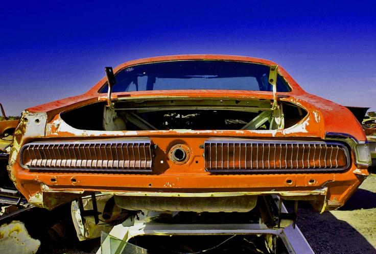 Desert Valley Auto >> Mercury Cougar carcass at Desert Valley Auto Parts salvage yard in Phoenix, Arizona.   Cars ...