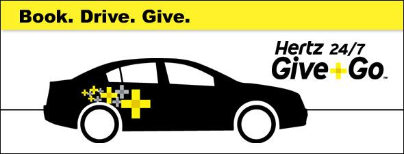 Hertz is partnering with local non-profit groups to help make it easy for customers to make a difference in their communities. The first hour of every Hertz 24/7 Give + Go car rental is donated to a specified charitable organization. Our goal is to help make everyday activities, like driving a car, contribute to healthier communities.
