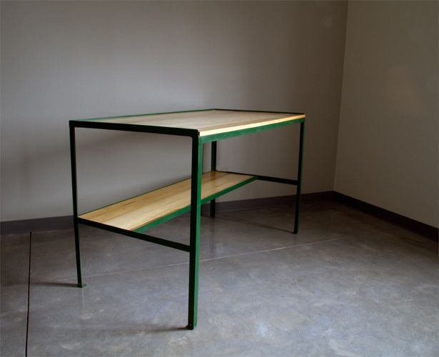 Great Industrial Table. | F U R N I T U R E | Pinterest | Factory Work,  Industrial And Barn Light Electric