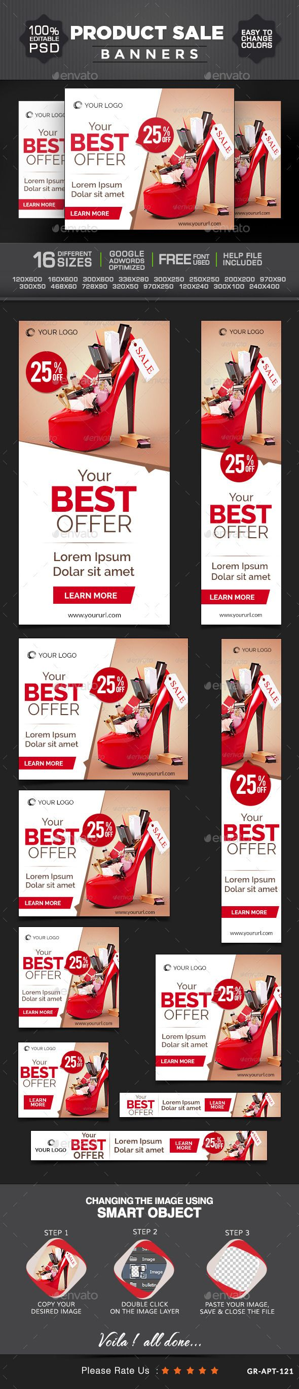 Product Sale Web Banners Template PSD | Buy and Download: http://graphicriver.net/item/product-sale-banners/9136233?WT.ac=category_thumb&WT.z_author=doto&ref=ksioks