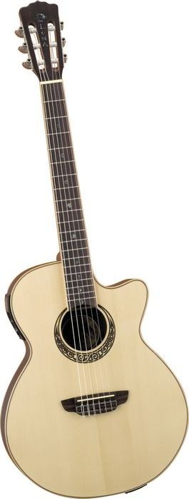 Luna Guitars Muse Series Folk Cutaway Nylon-String Acoustic-Electric Guitar Natural (via Musician's Friend)