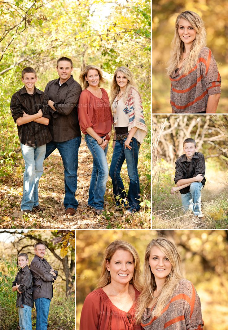 One of the best family portrait set ups I've seen, simple yet great shots, colors, poses, and scenery
