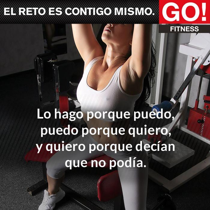 Hazlo porque puedes... #gofitness #clasesgo #ejercicio #gym #fit #fuerza #flexibilidad #reto #frasesgo