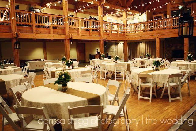 Wheeler Farm Wedding Reception---simple, but still beautiful! <3