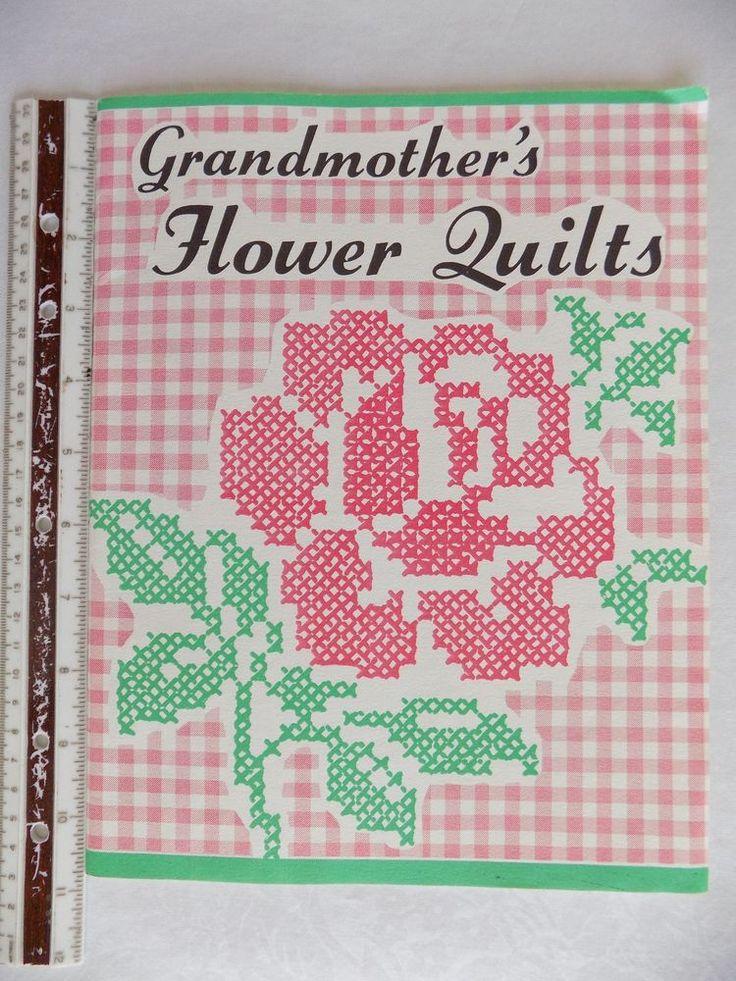 Vintage Grandmother's Flower Quilts Pattern Booklet 42 Pages 16 Patterns  #Unbranded